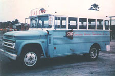 Old blue bus