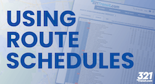 Using Route Schedules