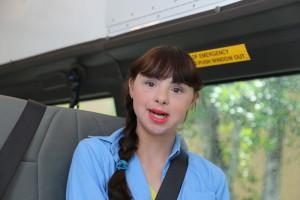 Girl on Van
