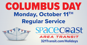Rider Alert - Columbus Day
